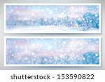 vector of winter  snow scene ... | Shutterstock .eps vector #153590822