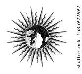 vector illustration of the sun... | Shutterstock .eps vector #1535922692