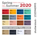 fashion color trend spring... | Shutterstock .eps vector #1535940995