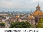 old basilica of guadalupe with... | Shutterstock . vector #153598112