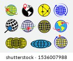 set of world globe earth icon... | Shutterstock .eps vector #1536007988
