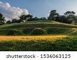 Small Hillside Graveyard Of...