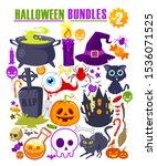halloween bundles cartoon in... | Shutterstock .eps vector #1536071525