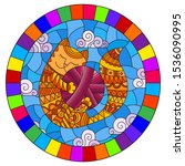 Stained Glass Illustration Of A ...