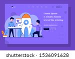 landing page business startup...