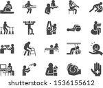 rehabilitation icon set....   Shutterstock .eps vector #1536155612
