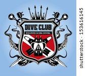 premium vector label for scuba... | Shutterstock .eps vector #153616145