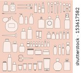 set of cosmetics | Shutterstock .eps vector #153617582