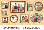 cartoon family photo frames.... | Shutterstock .eps vector #1536210038