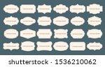 vintage label frames. old frame ... | Shutterstock .eps vector #1536210062