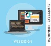 vector illustration of website  ... | Shutterstock .eps vector #1536230642