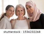 Three Happy Beautiful Diverse...