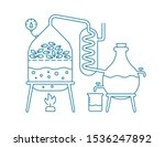essential oil making.... | Shutterstock .eps vector #1536247892