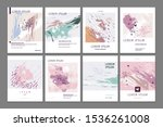 set of artistic abstract...   Shutterstock .eps vector #1536261008