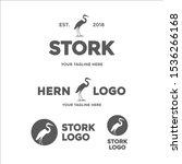 stork  hern  heron or ibis logo ...   Shutterstock .eps vector #1536266168