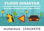 flood disaster concept banner....   Shutterstock .eps vector #1536269378
