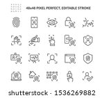 simple set of biometric related ... | Shutterstock .eps vector #1536269882