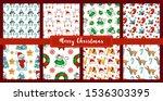 christmas seamless pattern set... | Shutterstock .eps vector #1536303395