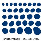 set of imperfect doodle circle... | Shutterstock .eps vector #1536310982