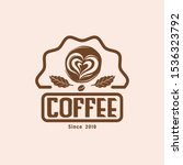 coffee shop vector logo. eps... | Shutterstock .eps vector #1536323792