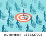 target sales and marketing... | Shutterstock .eps vector #1536327008