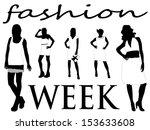 fashion girls | Shutterstock .eps vector #153633608