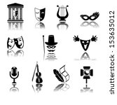 culture and art vector icons | Shutterstock .eps vector #153635012