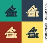 color cinema ticket icon... | Shutterstock .eps vector #1536355778