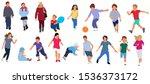 cartoon children walking... | Shutterstock .eps vector #1536373172