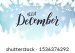 december hand lettering text.... | Shutterstock .eps vector #1536376292