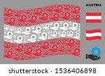waving austrian state flag.... | Shutterstock .eps vector #1536406898