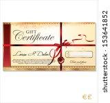 gift certificate template | Shutterstock .eps vector #153641852
