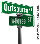 street signs outsource road... | Shutterstock . vector #153641882