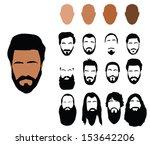 beard styles | Shutterstock .eps vector #153642206