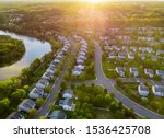 Aerial View Of Modern Roofs Of...