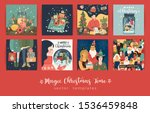 set of christmas and happy new... | Shutterstock .eps vector #1536459848