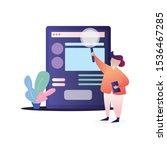 concept of digital marketing ... | Shutterstock .eps vector #1536467285