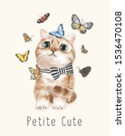 petite cute slogan with cute... | Shutterstock .eps vector #1536470108