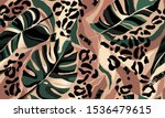 modern exotic pattern with... | Shutterstock .eps vector #1536479615
