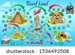 tropics game board  of children.... | Shutterstock .eps vector #1536493508