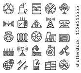 Radiation Icons Set. Outline...