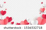 red  pink and white hearts with ... | Shutterstock .eps vector #1536532718