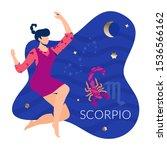 scorpio woman zodiac and...   Shutterstock .eps vector #1536566162