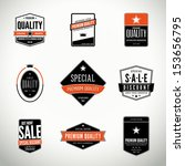 vector set with seals  stamps ... | Shutterstock .eps vector #153656795