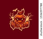 halloween mascot logo design... | Shutterstock .eps vector #1536597788