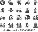 life cycle icon set. included... | Shutterstock .eps vector #1536602462