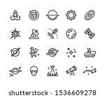 space line icons. futuristic... | Shutterstock .eps vector #1536609278