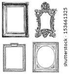 antique decorative frames | Shutterstock . vector #153661325