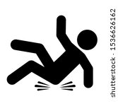 slip and fall vector icon... | Shutterstock .eps vector #1536626162