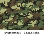 Camouflage seamless pattern. Woodland style - stock vector